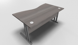 Essentiel Double Wave Top Office Desk with MFC Modesty Panel
