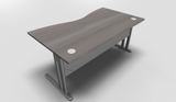 Essentiel Double Wave Top Office Desk with Metal Modesty Panel