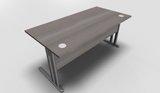 Essentiel Straight Top Office Desk with MFC Modesty Panel