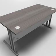 Essentiel Straight Top Office Desk with Metal Modesty Panel
