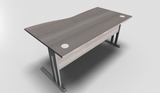 Essentiel Wave Top Office Desk with MFC Modesty Panel