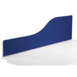 Magnum Upholstered Wave Desk Top Screen - Includes FREE Mainland UK Delivery