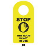 Covid-19 Door Sign Stop Room Not in Use Black/Yellow