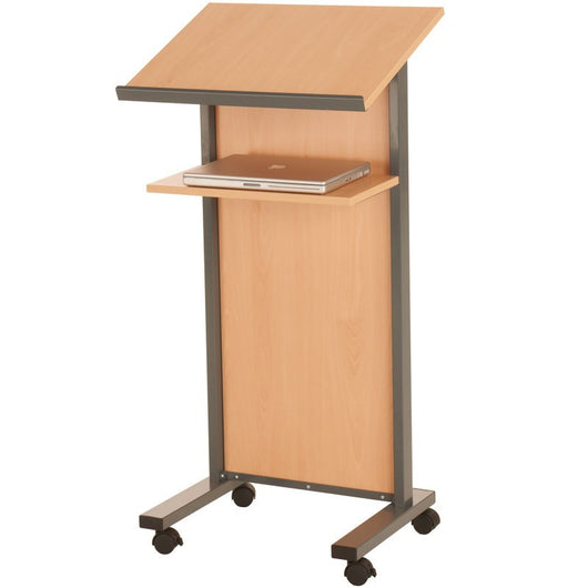 Panel Folding Lectern in Beech and Grey