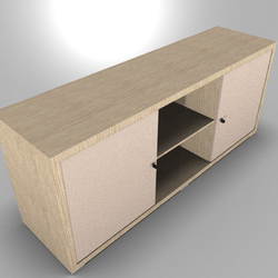 Prestige Credenza Two Door Storage Drawer