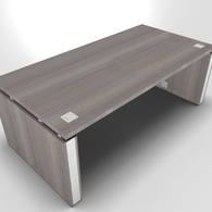 Prestige Executive Desk with Deluxe Chrome Loop Leg