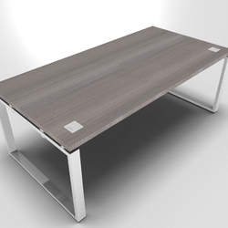 Prestige Executive desk with Chrome Loop Leg