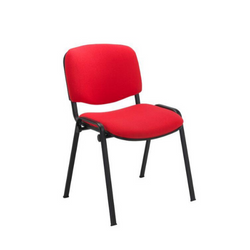 Club visitor/meeting chair black frame - Price Includes FREE Mainland UK Delivery - Min order of 2