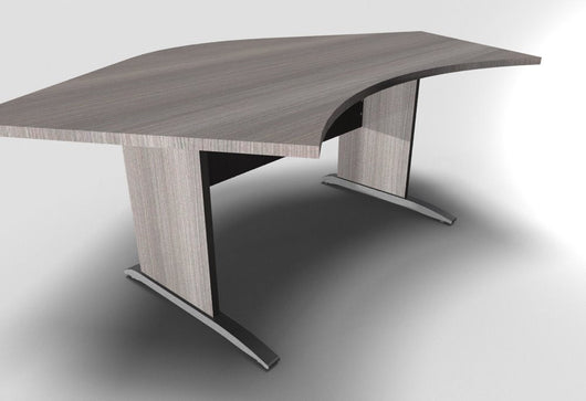 Retro 120° Symmetrical Exectutive Desk With Cantilever Legs