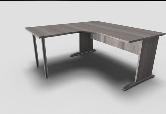 Retro 90° Symmetrical Exectutive Desk With Panel Legs