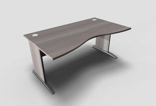Retro Double Wave Desk with Cantilever Leg