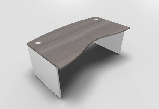 Retro Double Wave Exectutive Desk With Panel Leg