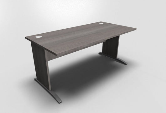 Retro Straight Office Desk with Cantilever Leg