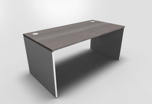 Retro Straight Office Desk with Panel Leg