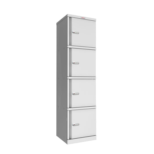 Steel 4 tier locker unit or 4 door storage unit - price includes delivery and build on site