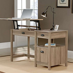 SIT STAND DESK SALT OAK