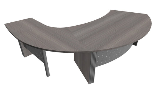 Style Curved Executive Desk with Curved Return