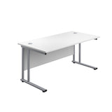 BOSs Range Rectangular Desks 600mm Deep with Twin Upright Cantilever Legs -Price Includes FREE Mainland UK Delivery