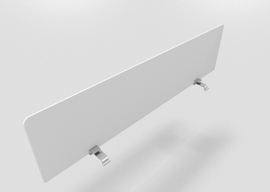Translucent White Acrylic Glass Fixed Screen Divider for Bench Desks