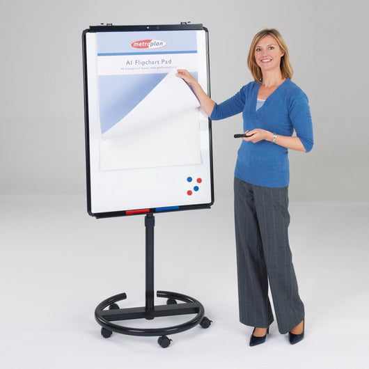 Ultimate Mobile Flipchart Easel on Wheels Available in 6 Colours