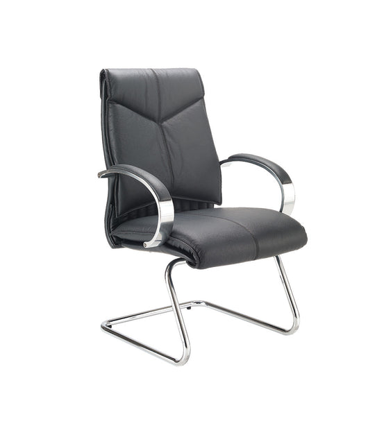Valentino Executive Visitors Chair in Black Leather