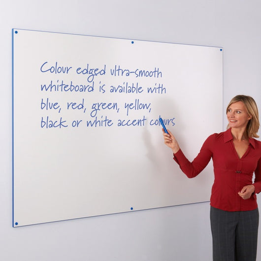 Write-On Coloured Edged Whiteboard