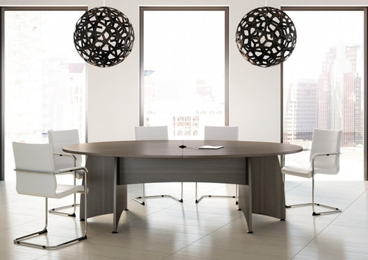 office conference table design. Ensemble Barrel Office Meeting Table With Panel Leg Design Conference