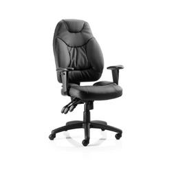 Galaxy Task Operator Chair With  Fabric or Leather Options With Arms