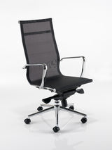 Breeze BH1 High Back Executive Chair in Black or White Mesh
