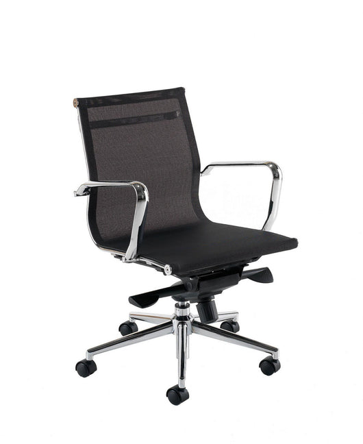 Breeze BM2 High Back Executive Chair in Black or White Mesh