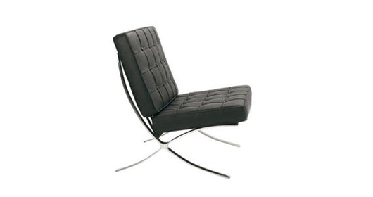 Classic Button Detail Black Leather Sofa for Seating 1 or 2