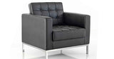 Classico Black Leather Sofa for Seating 1, 2 or 3