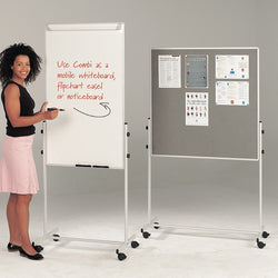 Combi Mobile Double Sided Noticeboard