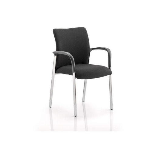 Academy Visitor Chair Black Fabric Back With or without Arms