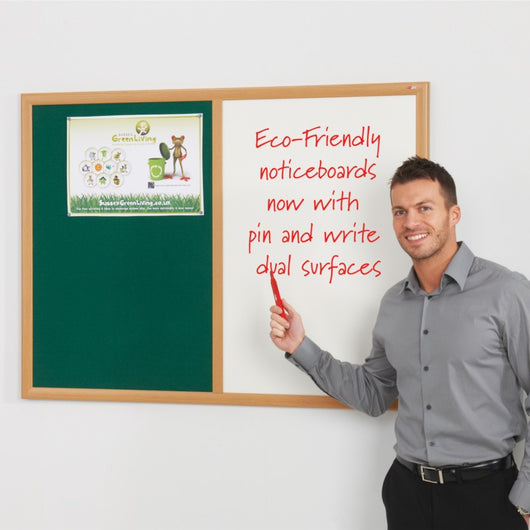 Eco-Friendly Dual Felt and DryWipe Noticeboard