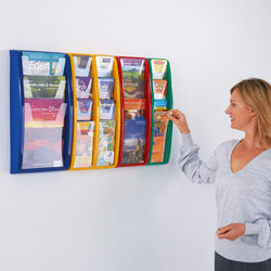 Panorama Wall Mounted Literature Holder in 6 sizes with 7 Colour Choices