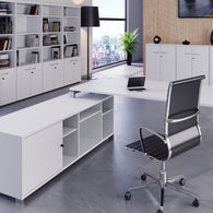 Astro Direction Straight Desk With Return Storage