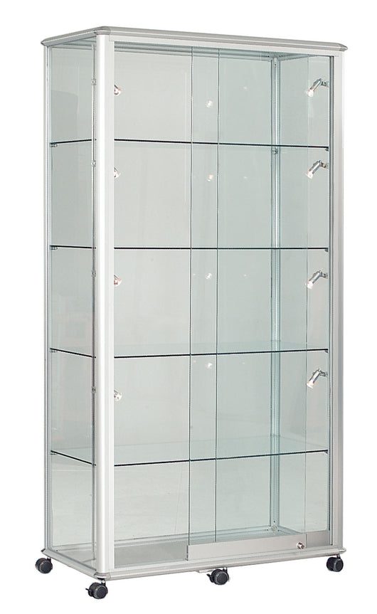 Shield Lockable Glass Display Case in 4 Colour Options