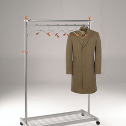 Silver Mobile Coat Rail