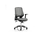 Relay Task Operator Chair With Arms Comes with Leather or Airmesh Option
