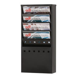Steel Wall Mounted Literature Dispenser