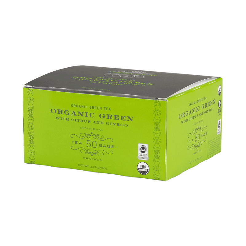 Organic Green with Citrus & Ginkgo - Harney & Sons Teas, European Distribution Center