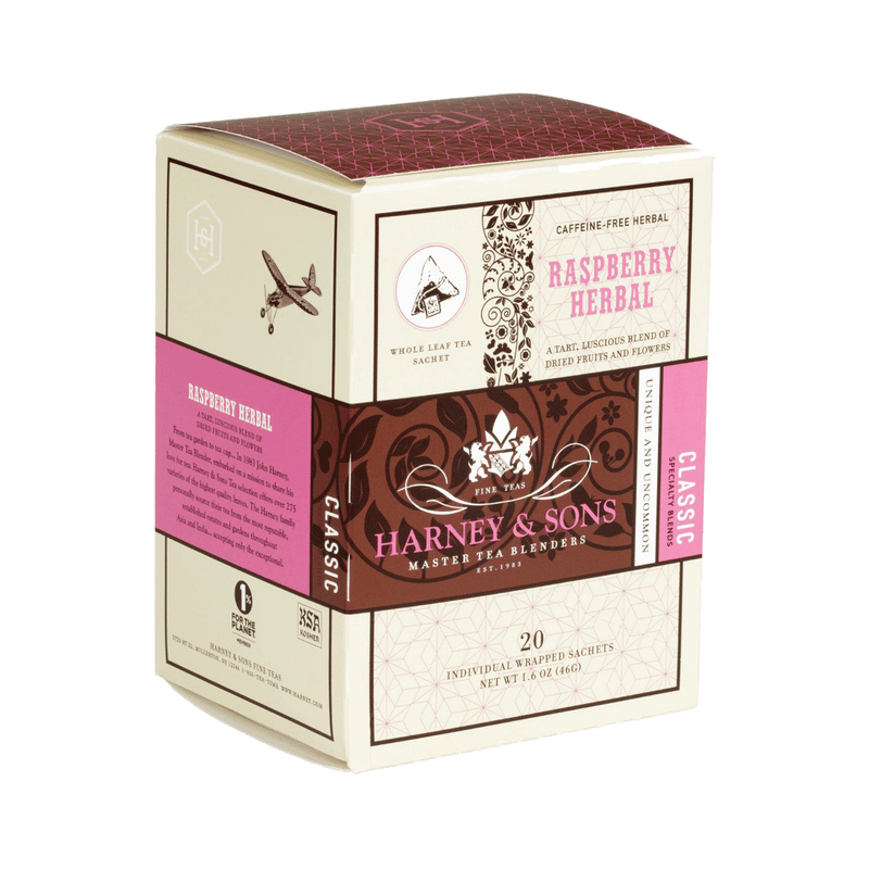 Raspberry Herbal - Harney & Sons Teas, European Distribution Center