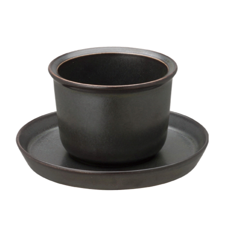 Kinto LT cup & saucer 160ml black - Harney & Sons Teas, European Distribution Center