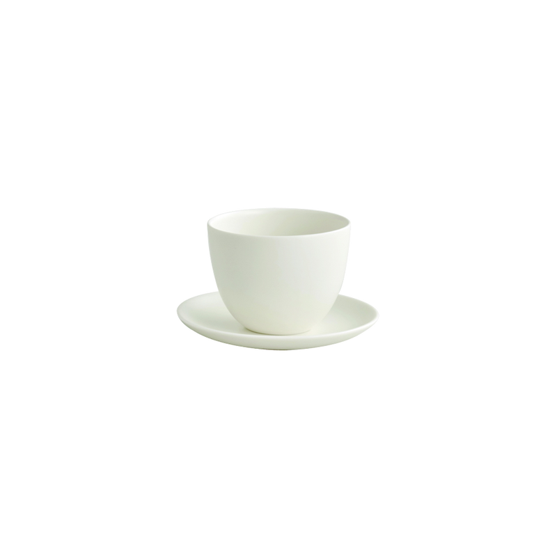 Kinto PEBBLE cup & saucer 180ml white