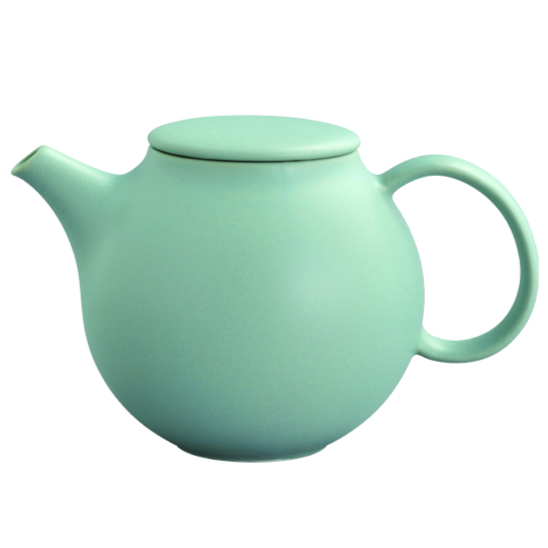 Kinto PEBBLE teapot 500ml moss green - Harney & Sons Teas, European Distribution Center