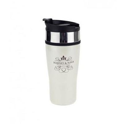 Timolino Travel Thermo Cup with Harney & Sons Logo - Harney & Sons Teas, European Distribution Center