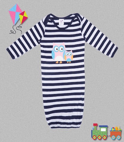 Blue Stripe Baby Gown