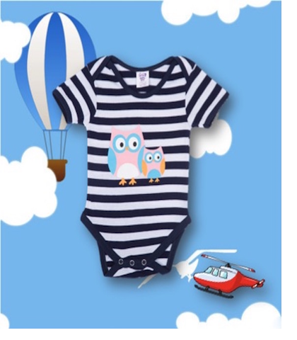 Blue Stripe Onesie
