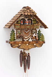 Black Forest Cuckoo Clock - Chalet Style - Woodchopper dual Song - Cuckoos Nest